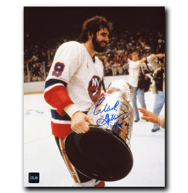 Clark Gillies New York Islanders Autographed Stanley Cup 8x10 Photo - CoJo Sport Collectables Inc.