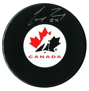 Corey Perry Autographed Team Canada Puck - CoJo Sport Collectables Inc.