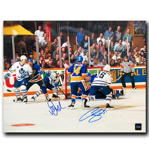 Curtis Joseph and Doug Gilmour Toronto Maple Leafs Dual Autographed 11x14 Photo - CoJo Sport Collectables Inc.