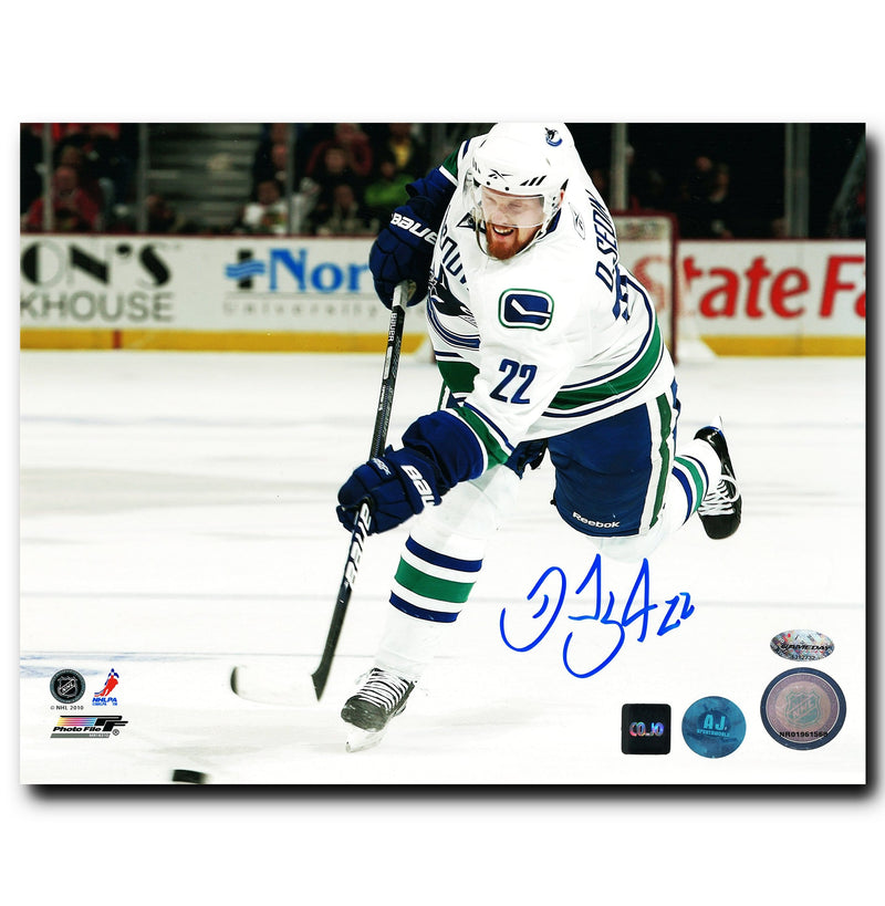 Daniel Sedin Vancouver Canucks Autographed Shooting 8x10 Photo CoJo Sport Collectables Inc.