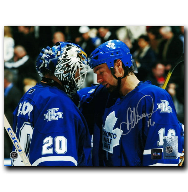 Darcy Tucker Toronto Maple Leafs Autographed Belfour 8x10 Photo - CoJo Sport Collectables Inc.