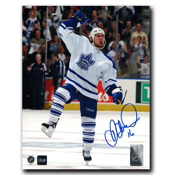 Darcy Tucker Toronto Maple Leafs Autographed 8x10 Celebration Photo