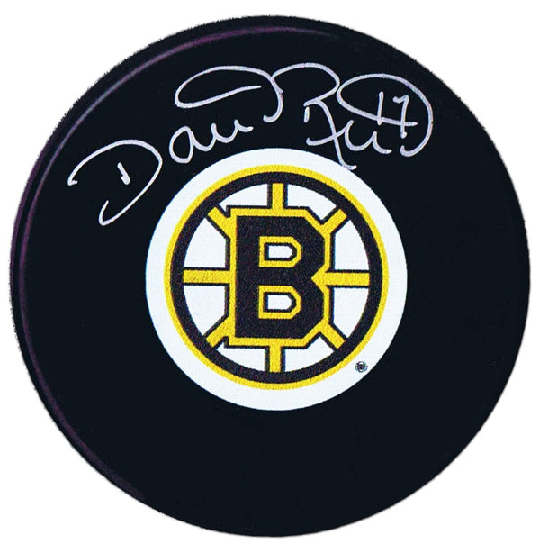 Dave Reid Autographed Boston Bruins Puck - CoJo Sport Collectables Inc.