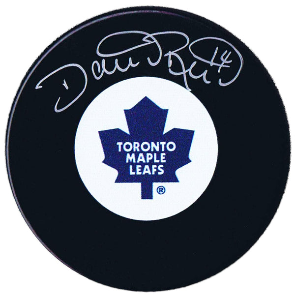 Dave Reid Autographed Toronto Maple Leafs Puck - CoJo Sport Collectables Inc.