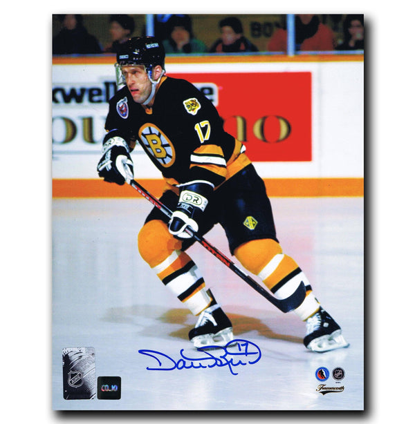 Dave Reid Boston Bruins Autographed 8x10 Photo - CoJo Sport Collectables Inc.