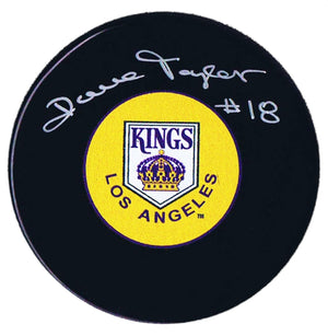 Dave Taylor Autographed Los Angeles Kings Retro Puck - CoJo Sport Collectables Inc.
