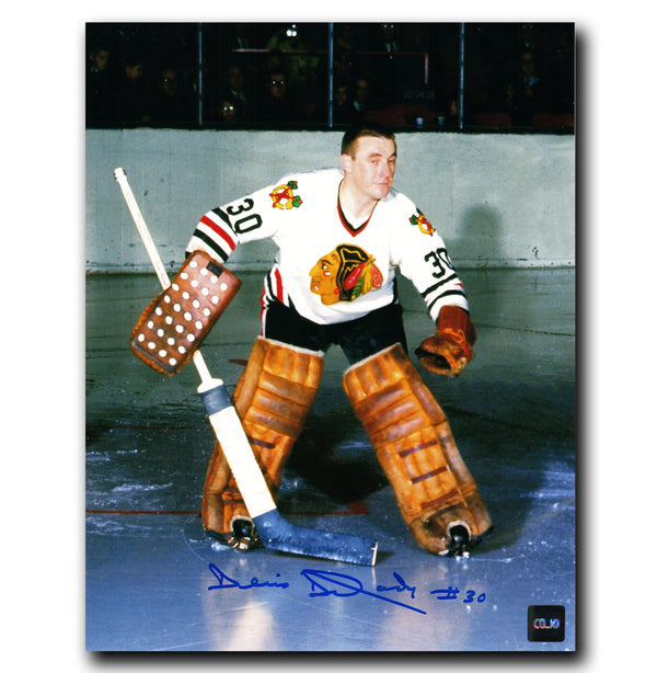 Denis DeJordy Chicago Blackhawks Autographed 8x10 Photo - CoJo Sport Collectables Inc.