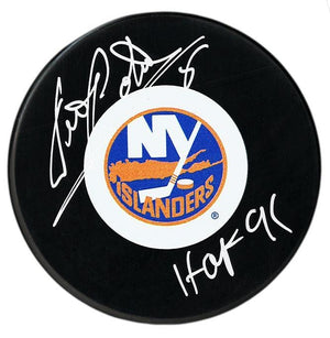 Denis Potvin Autographed New York Islanders HOF Puck - CoJo Sport Collectables Inc.