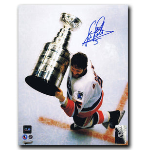 Denis Potvin New York Islanders Autographed Stanley Cup 8x10 Photo Autographed Hockey 8x10 Photos CoJo Sport Collectables