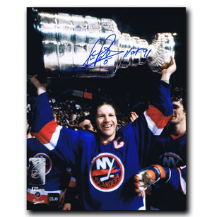 Denis Potvin New York Islanders Autographed Stanley Cup 8x10 Photo - CoJo Sport Collectables Inc.