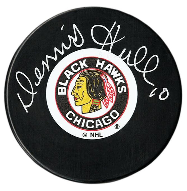 Dennis Hull Autographed Chicago Blackhawks Puck - CoJo Sport Collectables Inc.