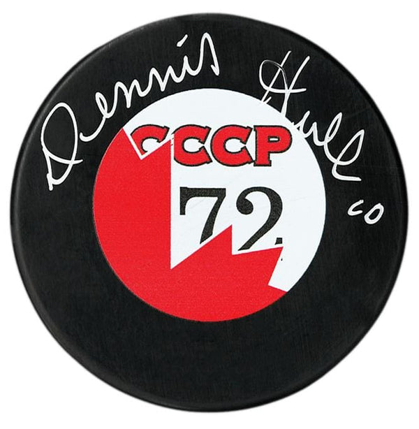 Dennis Hull Team Canada Autographed 72 Summit Series Puck - CoJo Sport Collectables Inc.