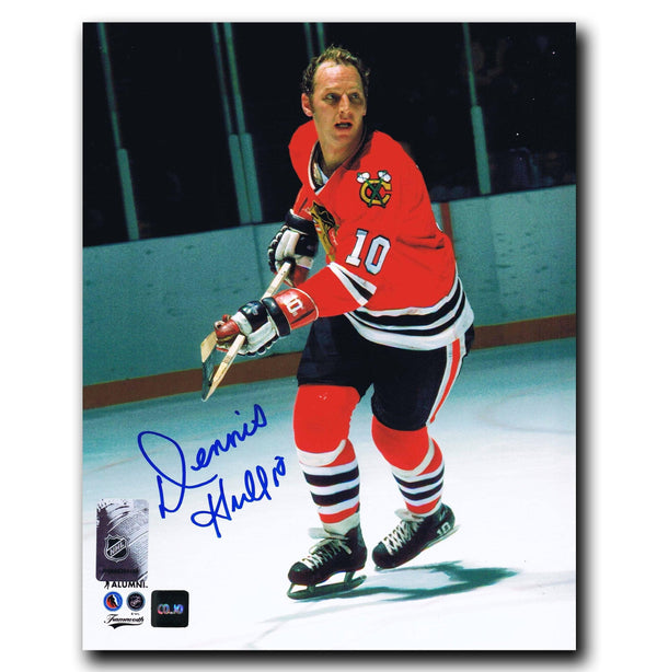 Dennis Hull Chicago Blackhawks Autographed 8x10 Photo - CoJo Sport Collectables Inc.