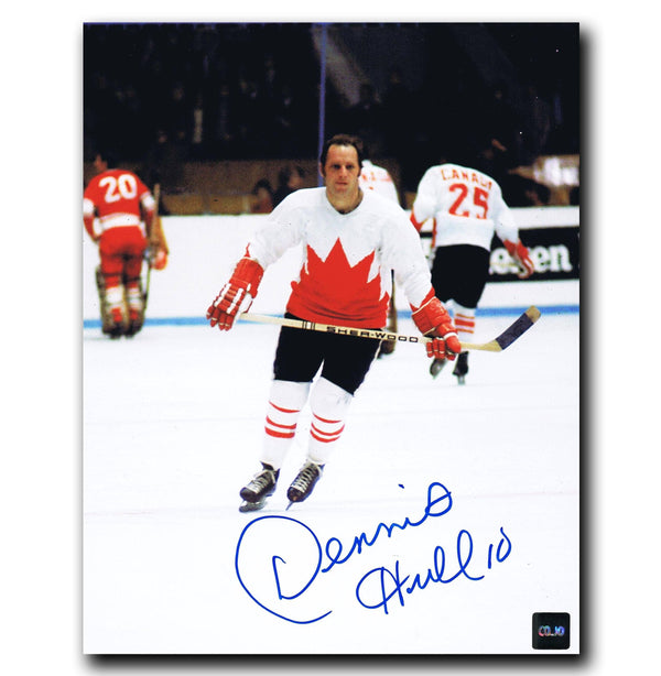 Dennis Hull Team Canada Autographed 8x10 Photo - CoJo Sport Collectables Inc.
