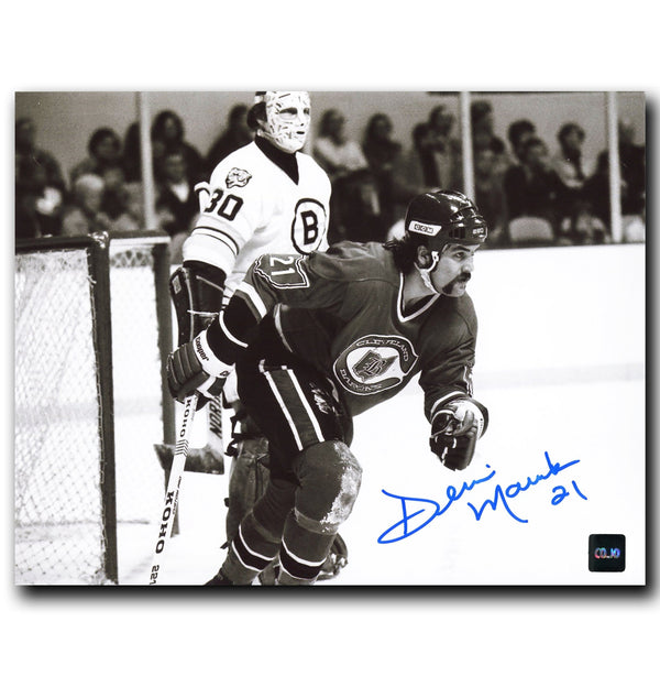 Dennis Maruk Cleveland Barons Autographed 8x10 Photo - CoJo Sport Collectables Inc.