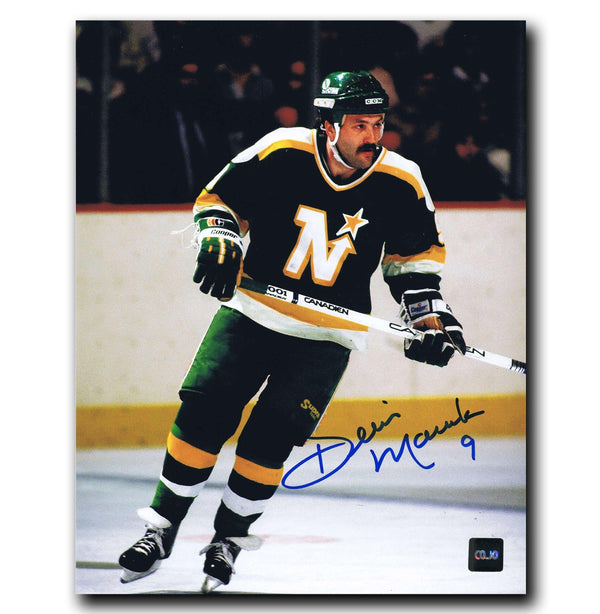 Dennis Maruk Minnesota North Stars Autographed 8x10 Photo - CoJo Sport Collectables Inc.