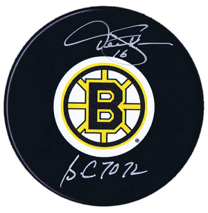 Derek Sanderson Boston Bruins Autographed Stanley Cup Puck - CoJo Sport Collectables Inc.