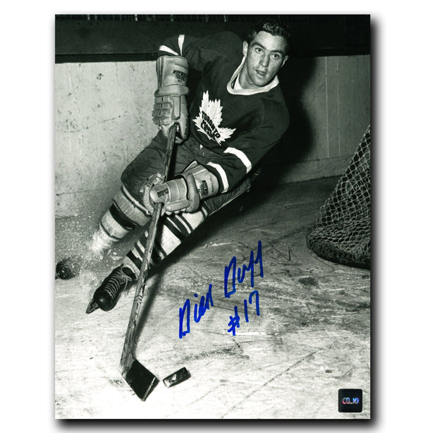 Dick Duff Toronto Maple Leafs Autographed Action 8x10 Photo