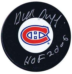 Dick Duff Autographed Montreal Canadiens HOF Puck - CoJo Sport Collectables Inc.