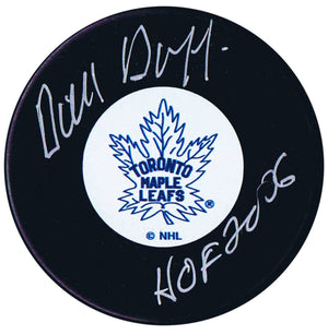 Dick Duff Autographed Toronto Maple Leafs HOF Puck