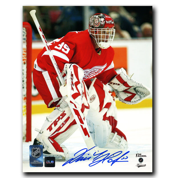 Dominik Hasek Detroit Red Wings Autographed Vertical 8x10 Photo - CoJo Sport Collectables Inc.