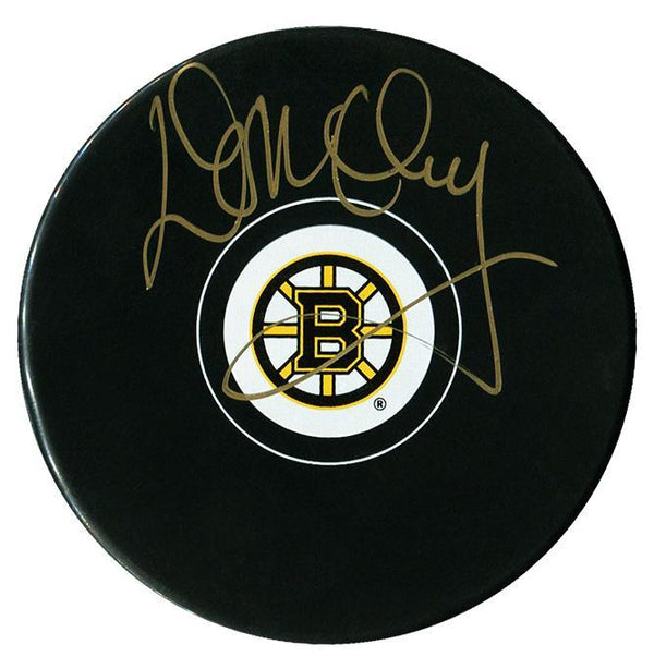 Don Cherry Autographed Boston Bruins Puck Autographed Hockey Pucks CoJo Sport Collectables