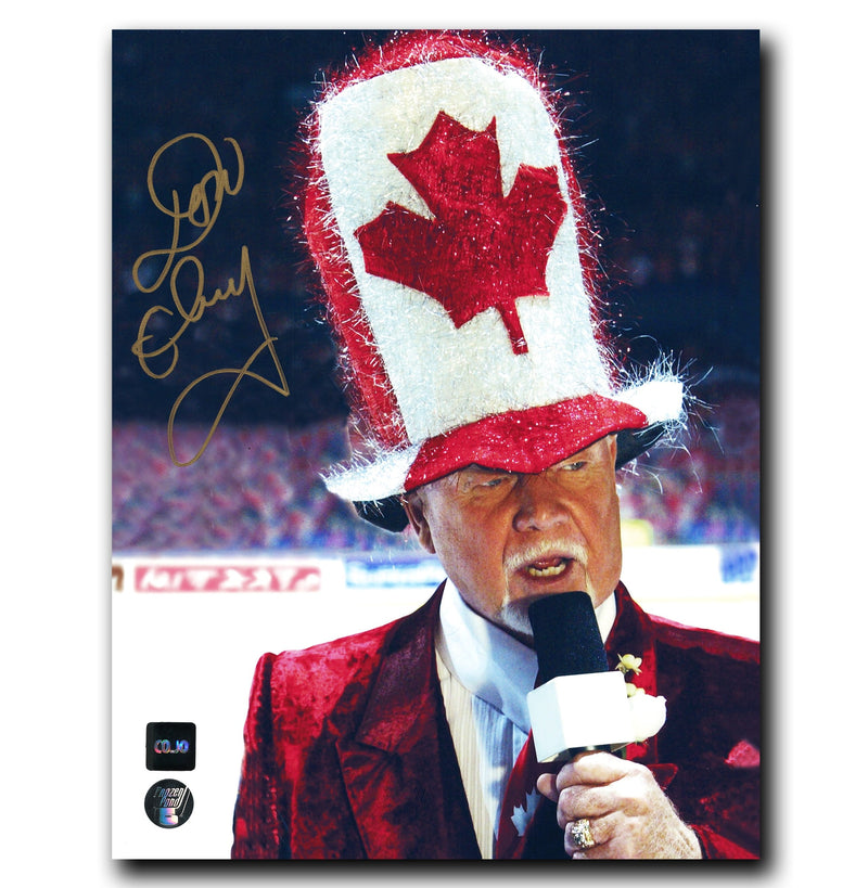Don Cherry Hockey Night in Canada Autographed 8x10 Photo CoJo Sport Collectables Inc.