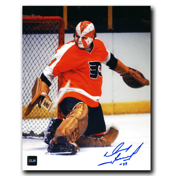 Doug Favell Philadelphia Flyers Autographed Save 8x10 Photo - CoJo Sport Collectables Inc.