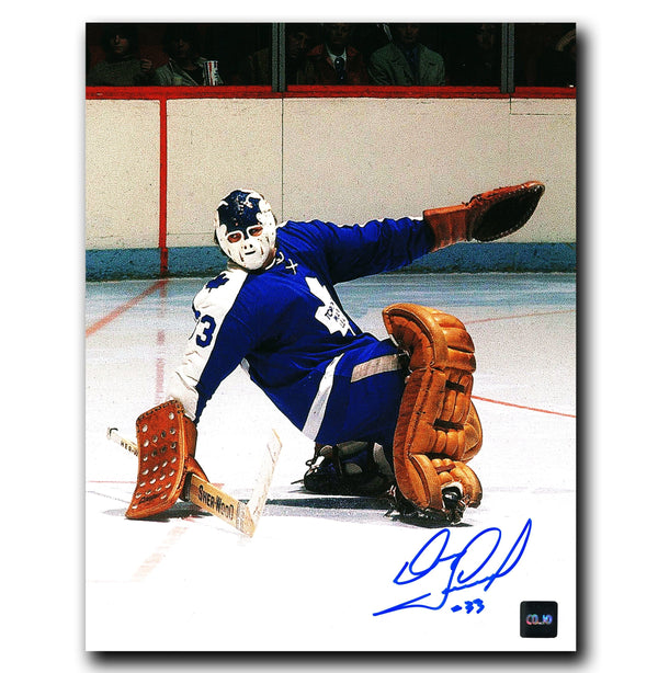 Doug Favell Toronto Maple Leafs Autographed Save 8x10 Photo - CoJo Sport Collectables Inc.