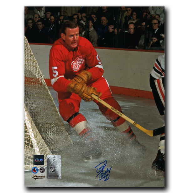Doug Barkley Detroit Red Wings Autographed Action 8x10 Photo