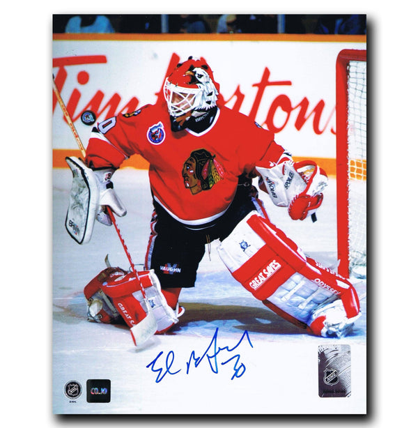 Ed Belfour Chicago Blackhawks Autographed 8x10 Photo Autographed Hockey 8x10 Photos CoJo Sport Collectables