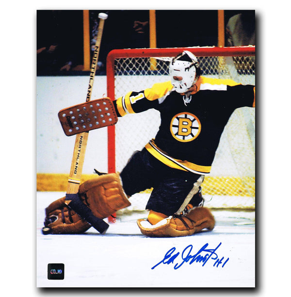 Ed Johnston Boston Bruins Autographed 8x10 Photo Autographed Hockey 8x10 Photos CoJo Sport Collectables