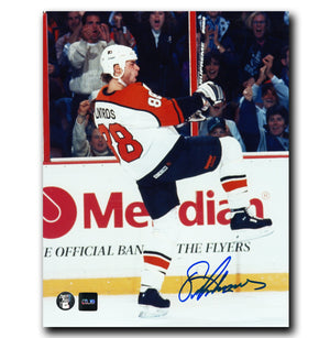 Eric Lindros Philadelphia Flyers Autographed Goal Celebration 8x10 Photo - CoJo Sport Collectables Inc.