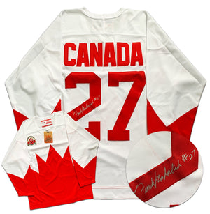 Frank Mahovlich Team Canada Autographed 1972 Summit Series Jersey