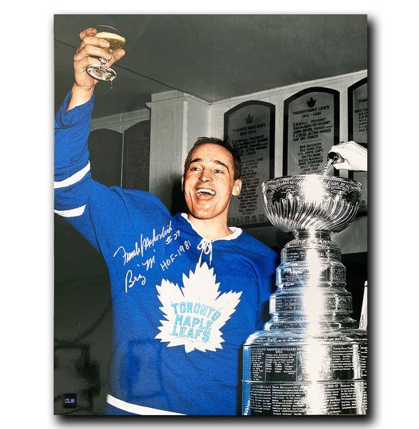 Frank Mahovlich Toronto Maple Leafs Autographed Stanley Cup Inscribed 16x20 Photo - CoJo Sport Collectables Inc.