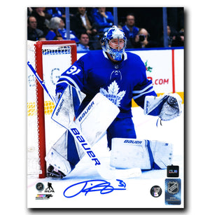 Frederik Andersen Toronto Maple Leafs Autographed Pad Down 8x10 Photo - CoJo Sport Collectables Inc.