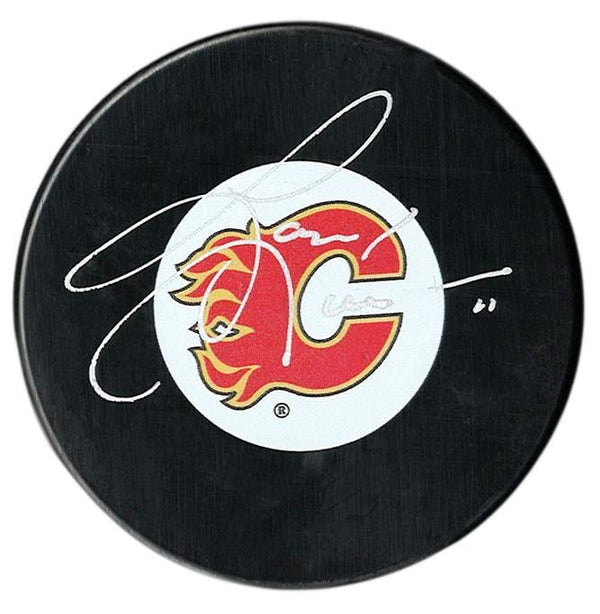 Gary Leeman Autographed Calgary Flames Puck - CoJo Sport Collectables Inc.