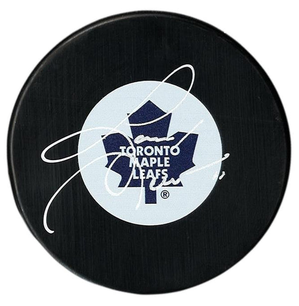 Gary Leeman Autographed Toronto Maple Leafs Puck - CoJo Sport Collectables Inc.