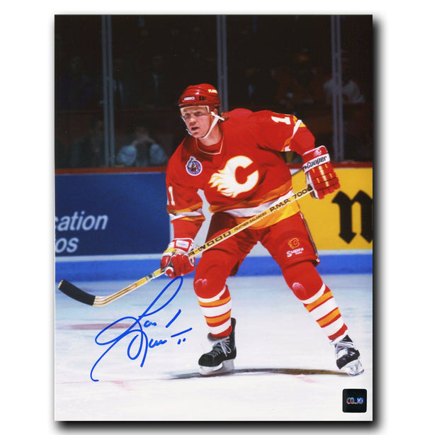 Gary Leeman Calgary Flames Autographed 8x10 Photo - CoJo Sport Collectables Inc.