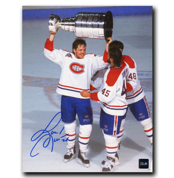 Gary Leeman Montreal Canadiens Autographed Stanley Cup 8x10 Photo - CoJo Sport Collectables Inc.