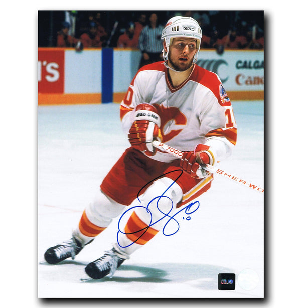 Gary Roberts Calgary Flames Autographed 8x10 Photo - CoJo Sport Collectables Inc.