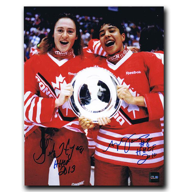 Geraldine Heaney and Angela James Team Canada Dual Autographed 8x10 Photo Autographed Hockey 8x10 Photos CoJo Sport Collectables