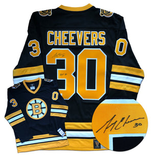 Gerry Cheevers Boston Bruins Autographed Fanatics Vintage Jersey