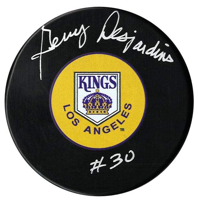 Gerry Desjardins Autographed Los Angeles Kings Puck CoJo Sport Collectables Inc.