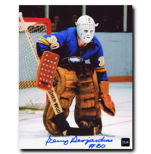 Gerry Desjardins Buffalo Sabres Autographed Crease 8x10 Photo