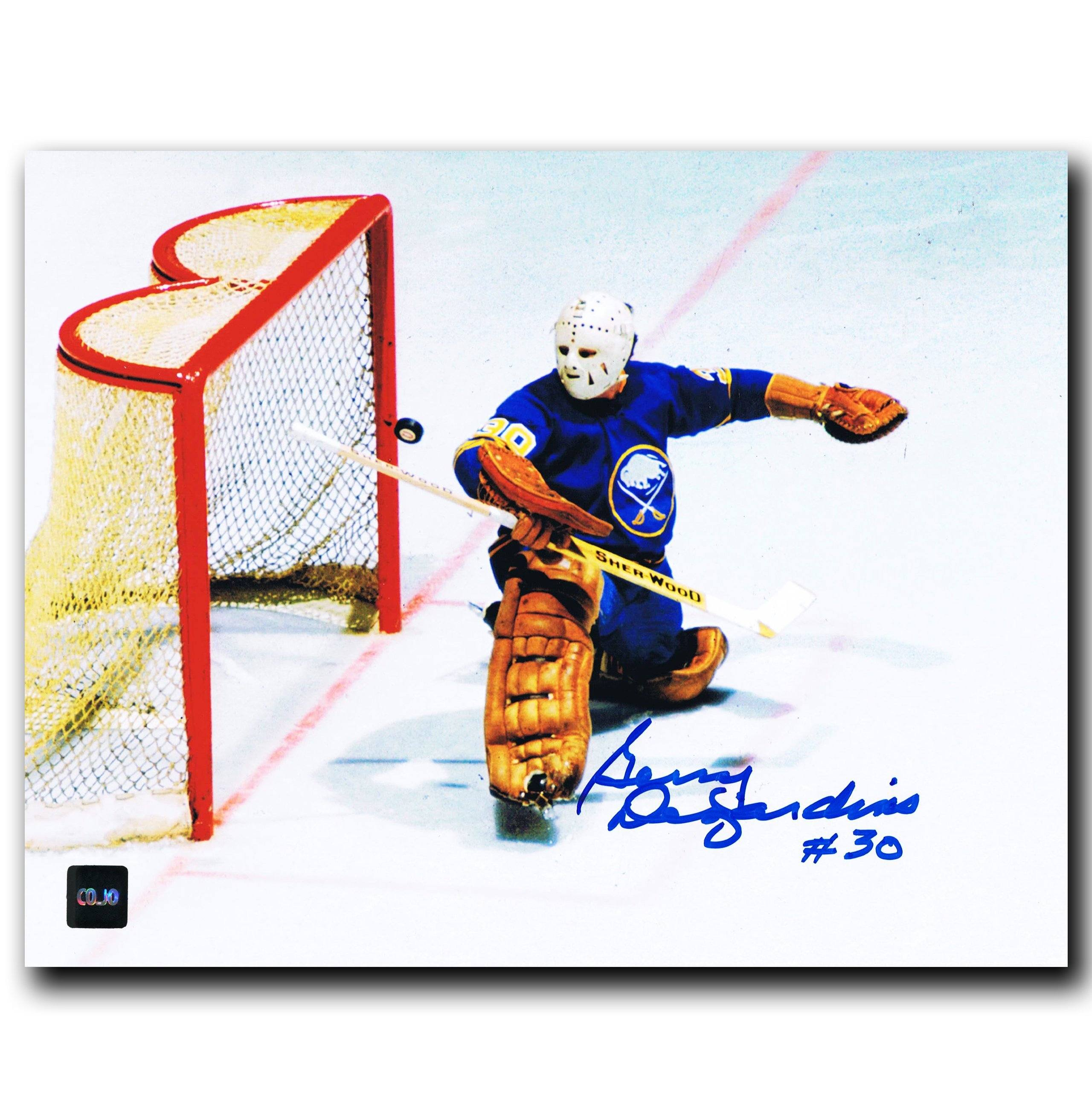 the latest 18f37 86043 Gerry Desjardins Buffalo Sabres Autographed 8x10 Photo - CoJo Sport  Collectables Inc.