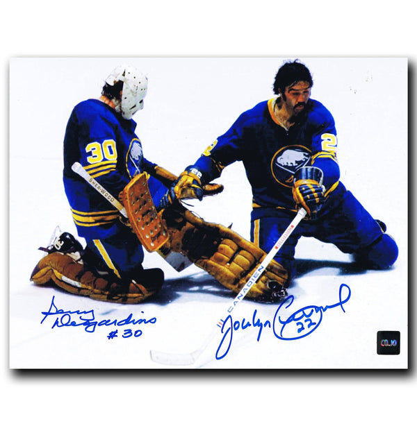 Gerry Desjardins / Jocelyn Guevremont Buffalo Sabres Autographed 8x10 Photo - CoJo Sport Collectables Inc.