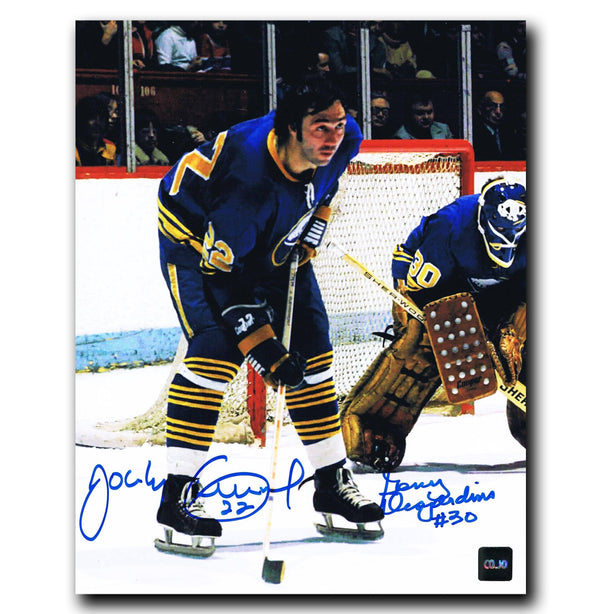 Gerry Desjardins / Jocelyn Guevremont Buffalo Sabres Autographed 8x10 Photo Autographed Hockey 8x10 Photos CoJo Sport Collectables