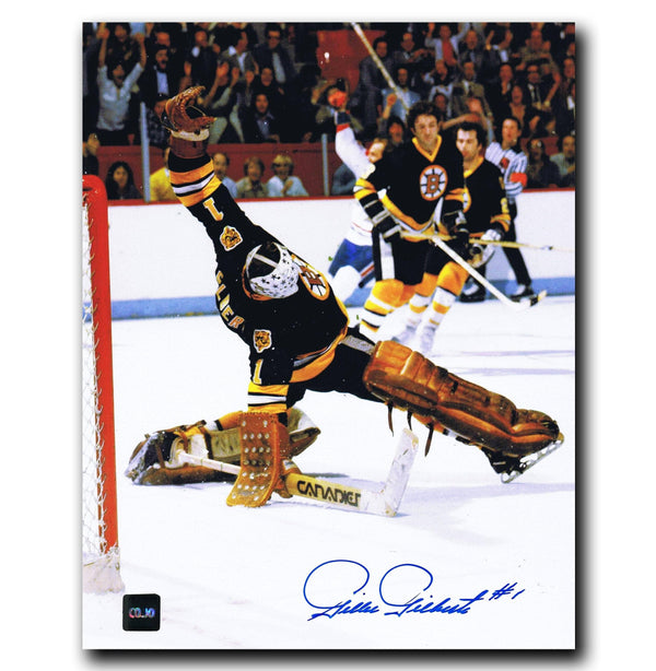 Gilles Gilbert Boston Bruins Autographed 8x10 Photo - CoJo Sport Collectables Inc.
