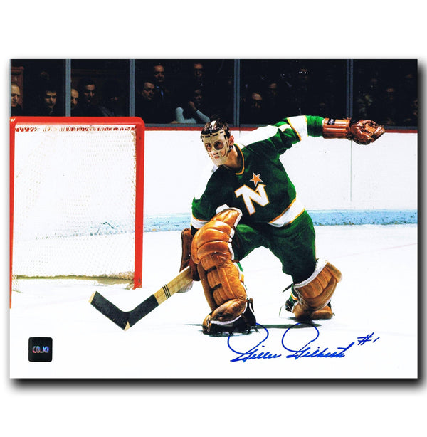 Gilles Gilbert Minnesota North Stars Autographed 8x10 Photo - CoJo Sport Collectables Inc.